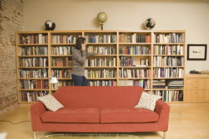 private library custom home design accessible home builders